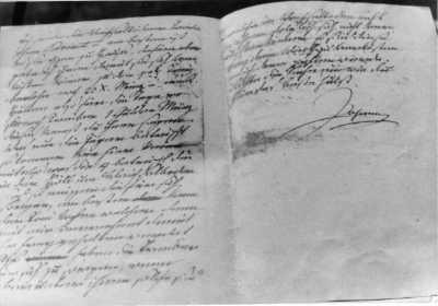 Johann schreibt seiner Anna Plochl