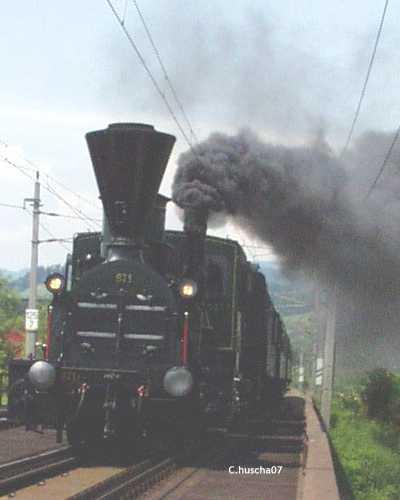 die dienst�lteste Dampflok der Suedbahn